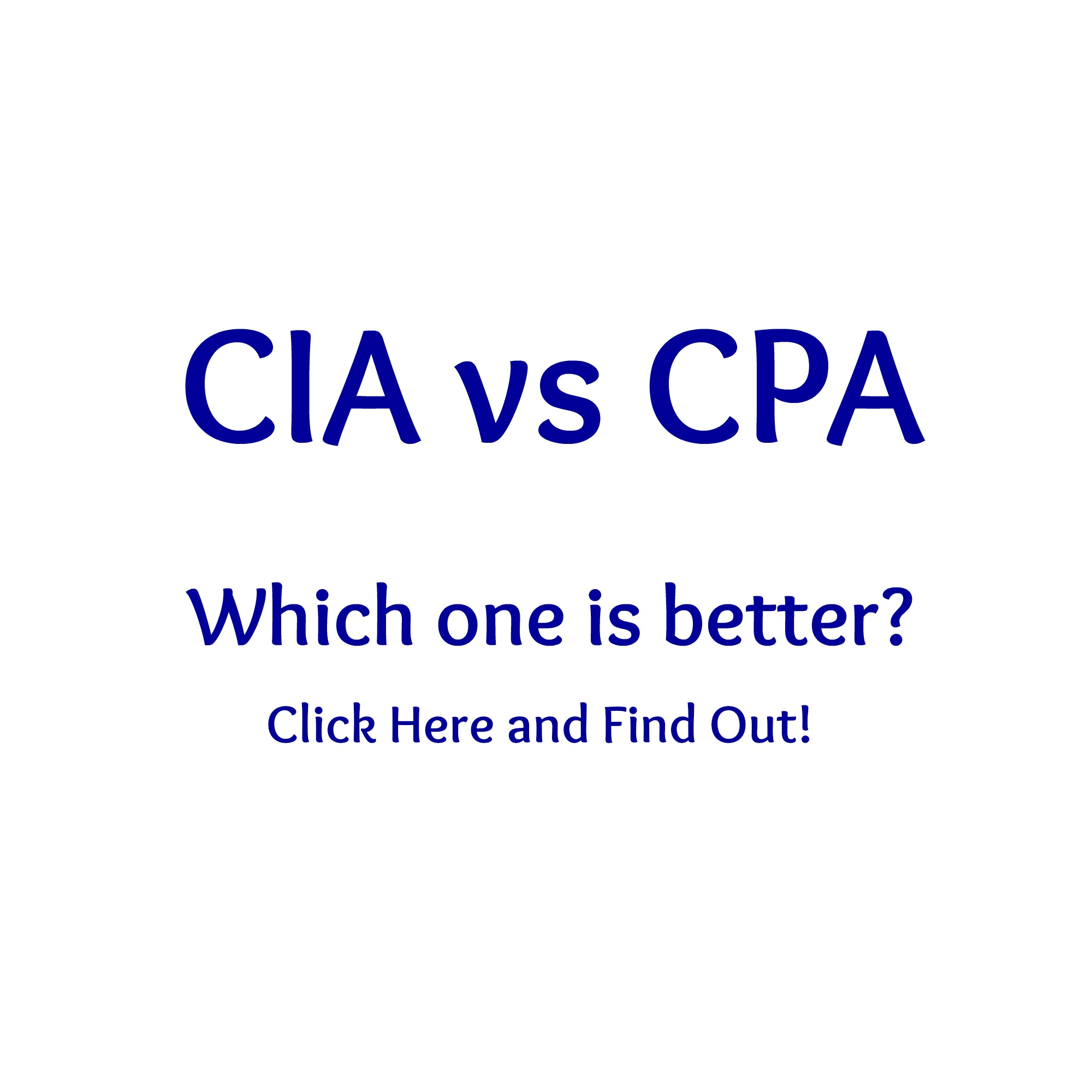 2018 Cia Vs Cpa Which Is Better Career Comparison